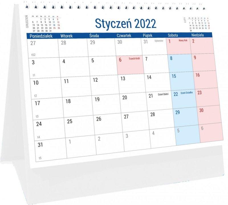 Kalendarz na biurko stojący PLANO na rok 2022