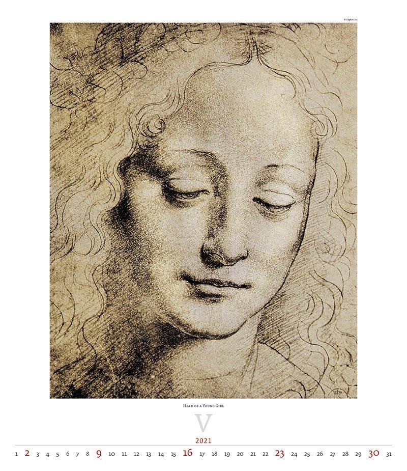 Kalendarz ścienny wieloplanszowy Leonardo da Vinci 2021 - exclusive edition  - maj 2021