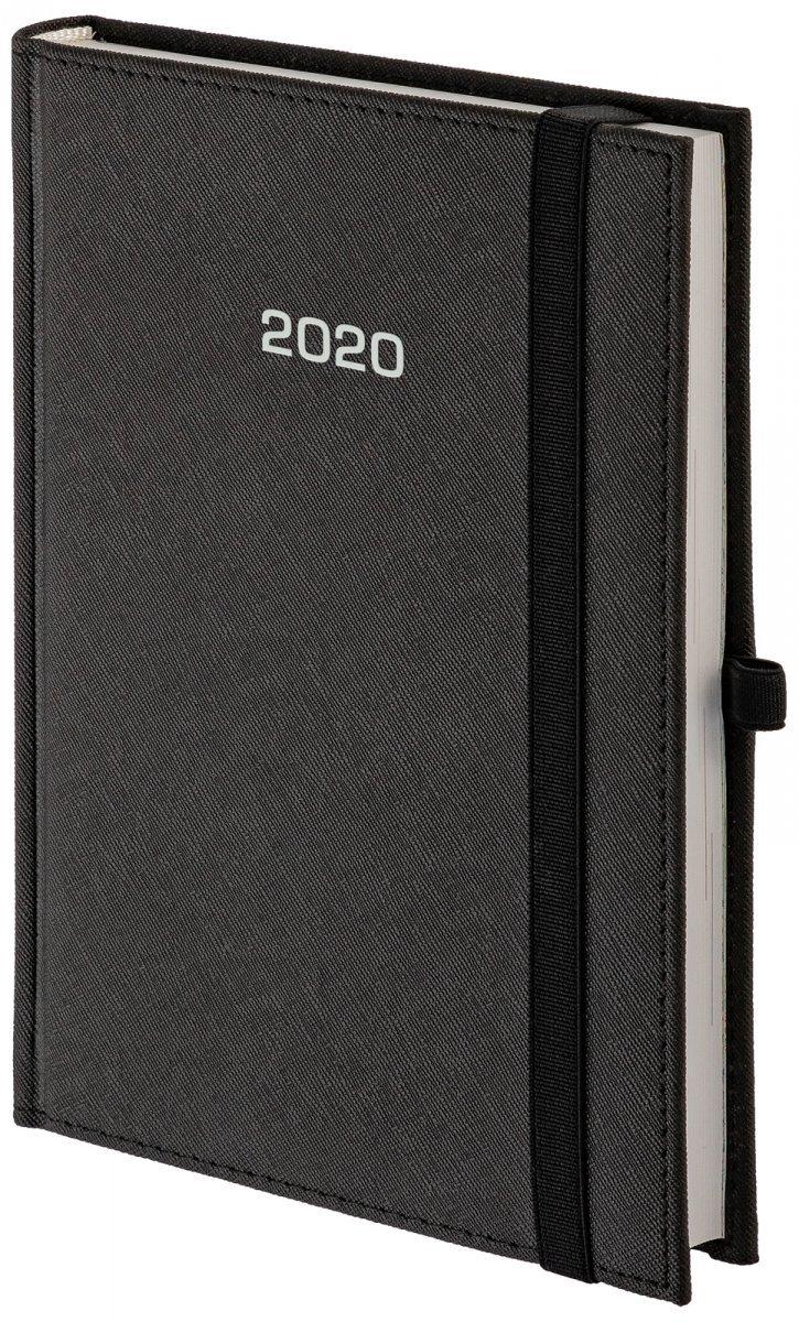 Kalendarz książkowy 2020 A4 tygodniowy oprawa ROSSA zamykana na gumkę czarna
