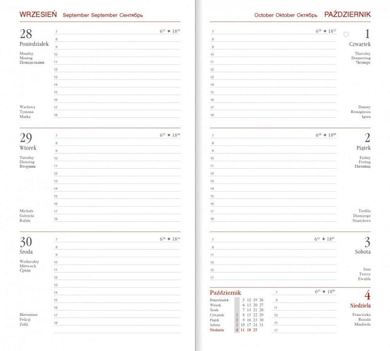 Kalendarz książkowy A6 tygodniowy papier biały perforacja