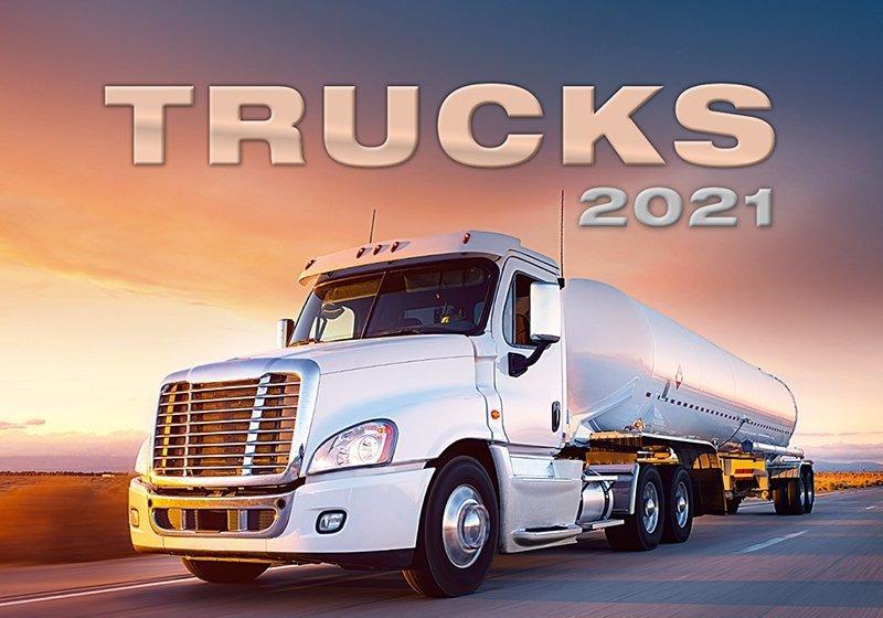 Kalendarz ścienny wieloplanszowy Trucks 2021 - okładka