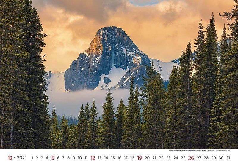 Kalendarz ścienny wieloplanszowy National Parks 2021 - grudzień 2021