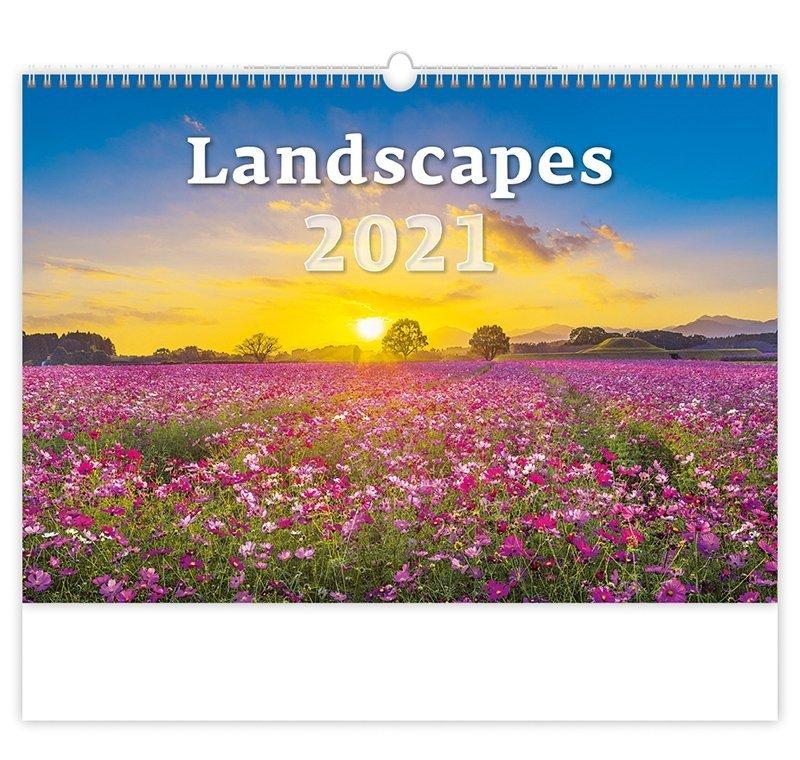 Kalendarz ścienny wieloplanszowy Landscapes 2021 - okładka