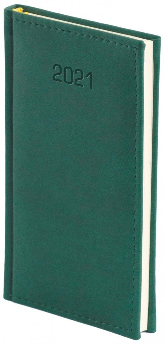 Kalendarz książkowy 2021 A6 tygodniowy oprawa VIVELLA EXCLUSIVE zielona
