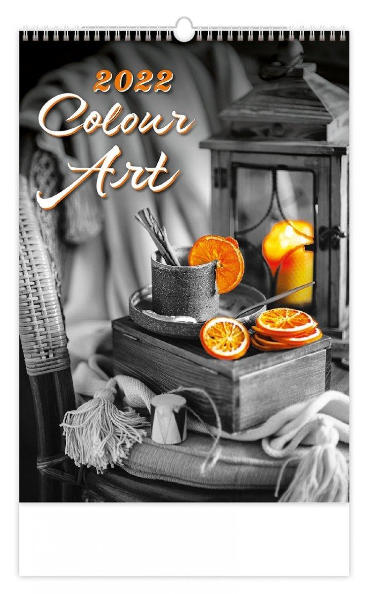 Kalendarz ścienny wieloplanszowy Colour Art 2022 - okładka