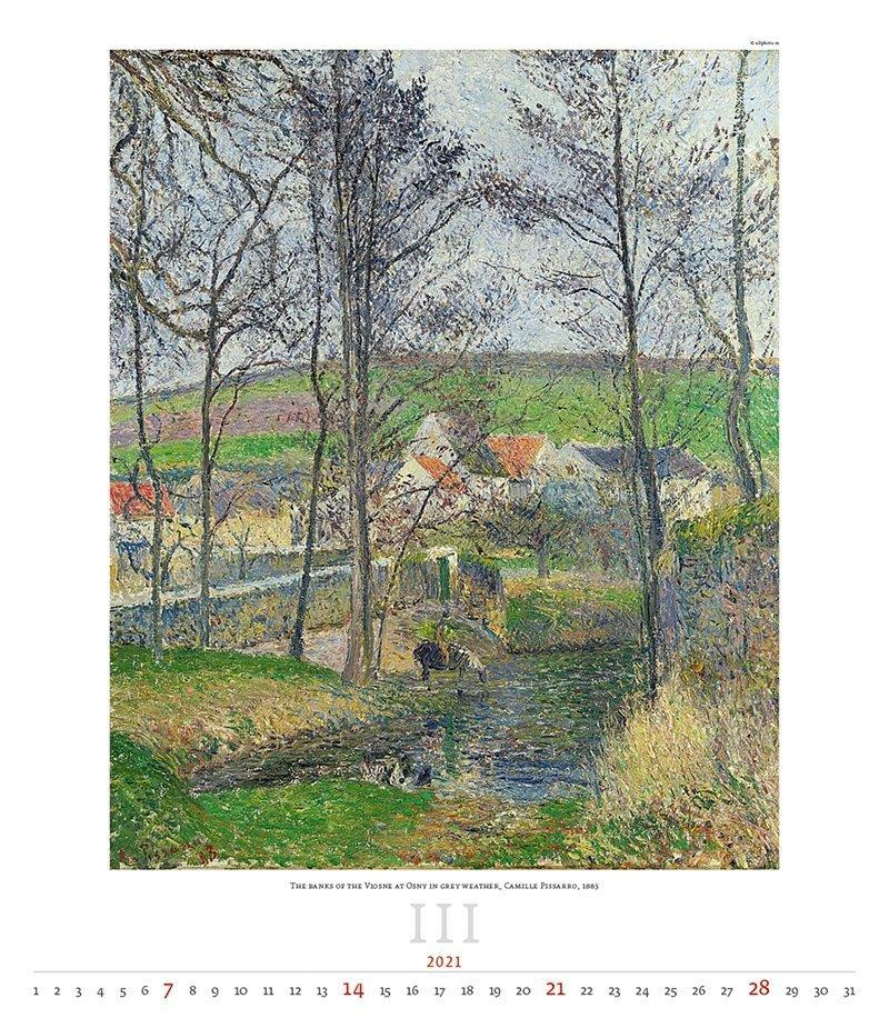 Kalendarz ścienny wieloplanszowy Impressionism 2021 - exclusive edition - marzec 2021