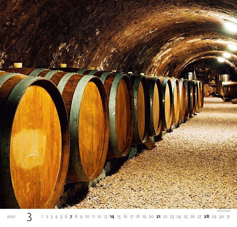 Kalendarz ścienny wieloplanszowy Wine 2021 - marzec 2021