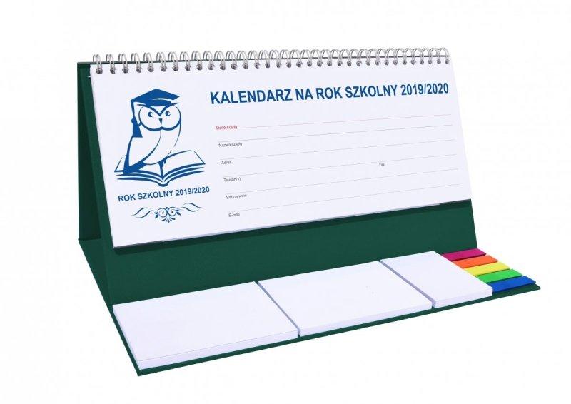 Kalendarz biurkowy EXCLUSIVE PLUS na rok szkolny 2019/2020 - zielony
