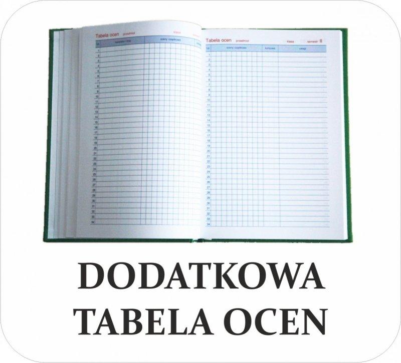 Dodatkowa tabela ocen do kalendarza nauczyciela