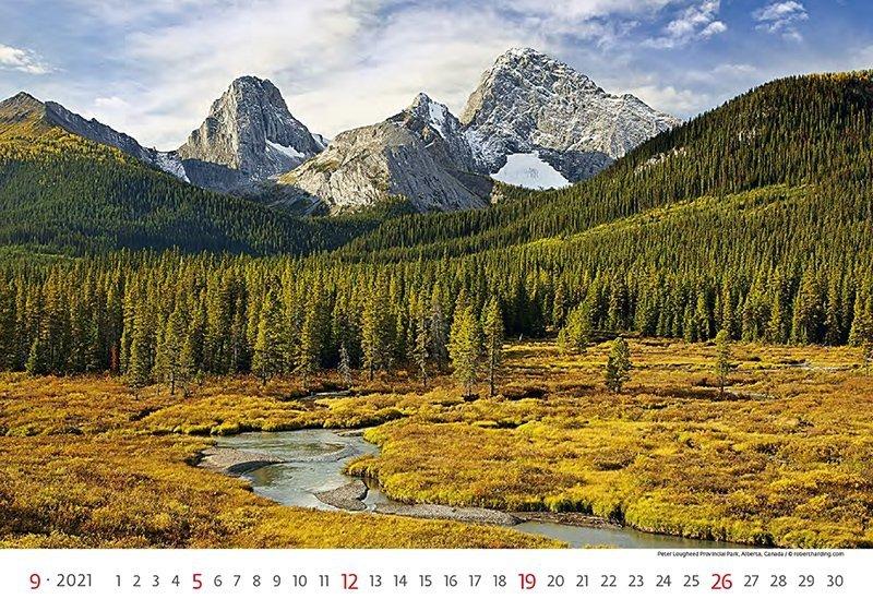 Kalendarz ścienny wieloplanszowy National Parks 2021 - wrzesień 2021