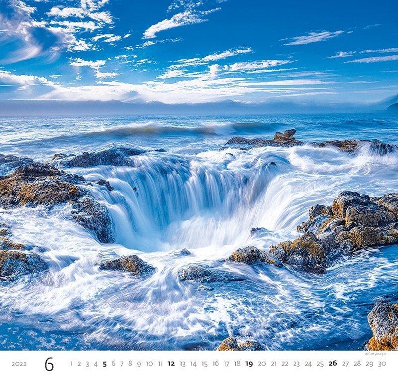 Kalendarz ścienny wieloplanszowy Aqua 2022 - czerwiec 2022
