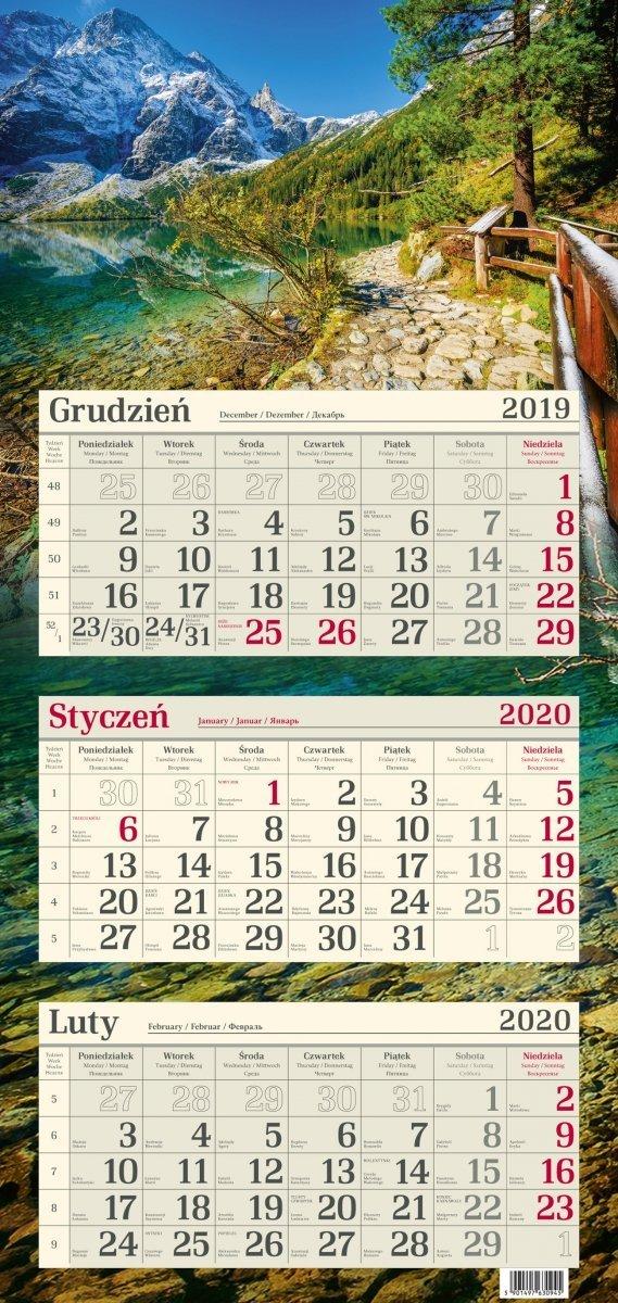 Kalendarz trójdzielny R14 TATRY 2020