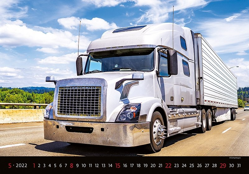 Kalendarz ścienny wieloplanszowy Trucks 2022 - maj 2022