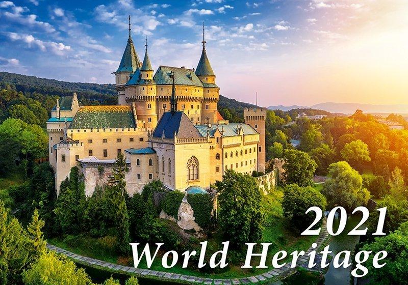 Kalendarz ścienny wieloplanszowy World Heritage 2021 - okładka