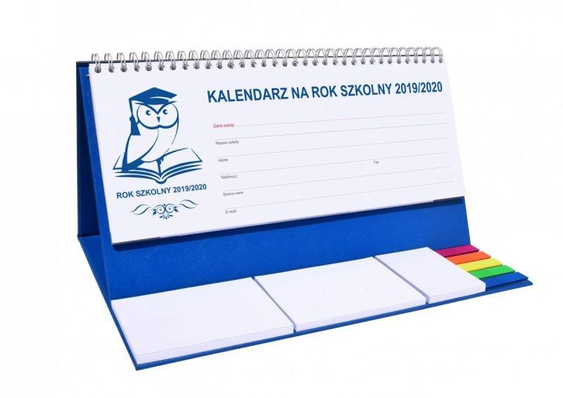 Kalendarz biurkowy EXCLUSIVE PLUS na rok szkolny 2019/2020 - niebieski