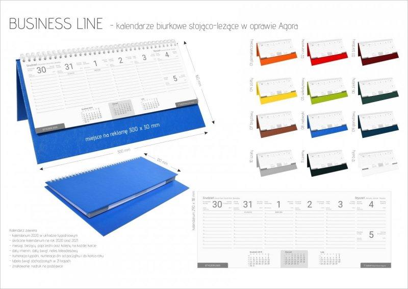 Kalendarz biurkowy stojąco-leżący BUSINESS LINE oprawa Agora