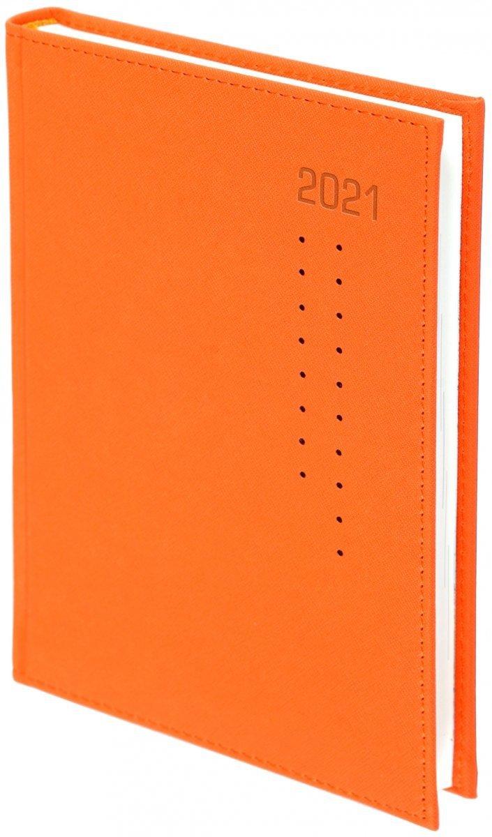 Kalendarz książkowy 2021 A4 tygodniowy oprawa ROSSA pomarańczowa/czarne kropki - oprawa przeszywana
