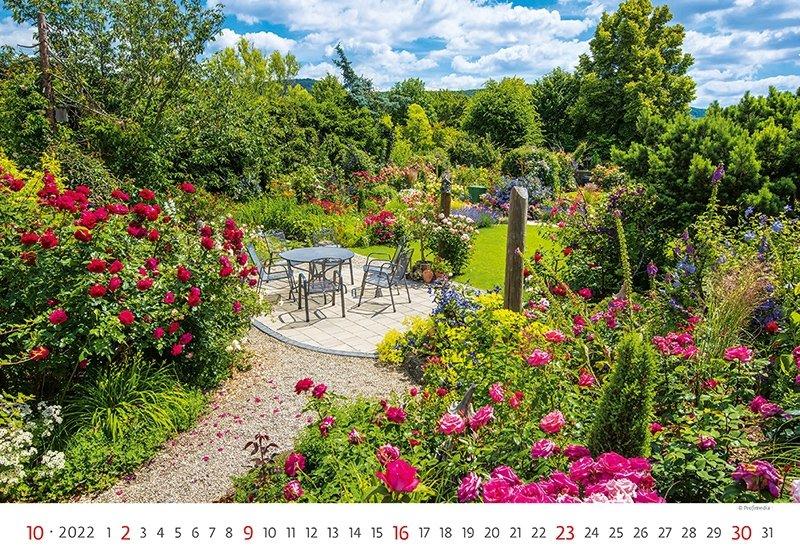 Kalendarz ścienny wieloplanszowy Gardens 2022 - październik 2022