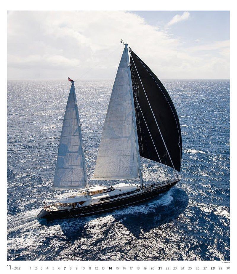 Kalendarz ścienny wieloplanszowy Sailing 2021 - exclusive edition - listopad 2021