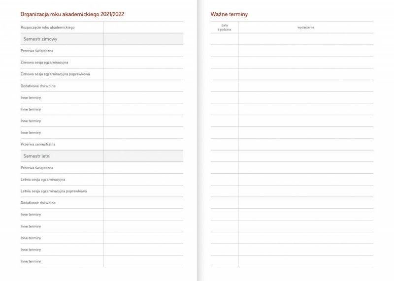 Kalendarz akademicki na rok szkolny 2021/2022 organizacja roku akademickiego ważne terminy