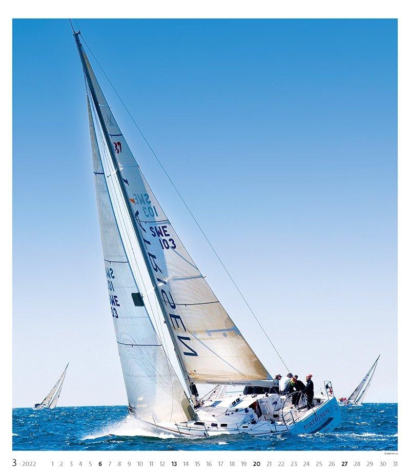 Kalendarz ścienny wieloplanszowy Sailing 2022 - exclusive edition - marzec 2022