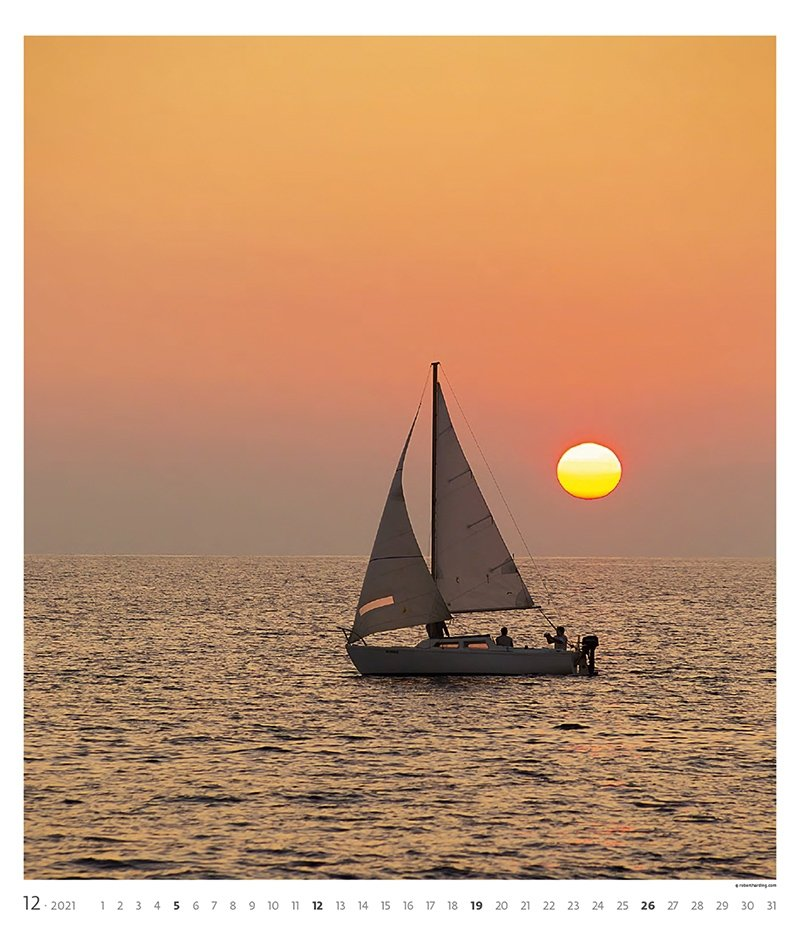 Kalendarz ścienny wieloplanszowy Sailing 2021 - exclusive edition - grudzień 2021