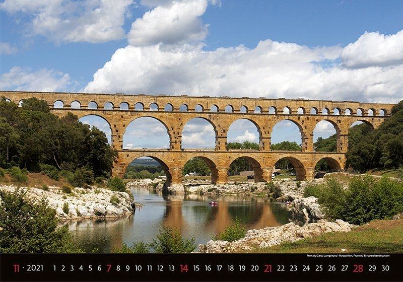 Kalendarz ścienny wieloplanszowy Bridges 2021 - listopad 2021