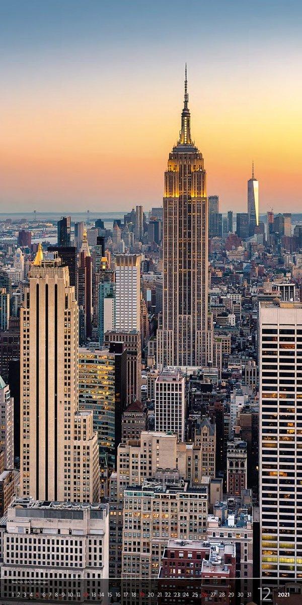 Kalendarz ścienny wieloplanszowy Above the  Cities 2021 - exclusive edition - grudzień 2021