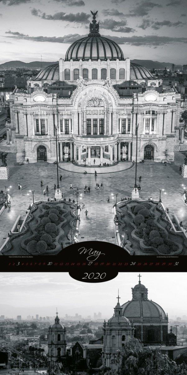 Kalendarz ścienny wieloplanszowy All About Cities 2020 - exclusive edition - maj 2020