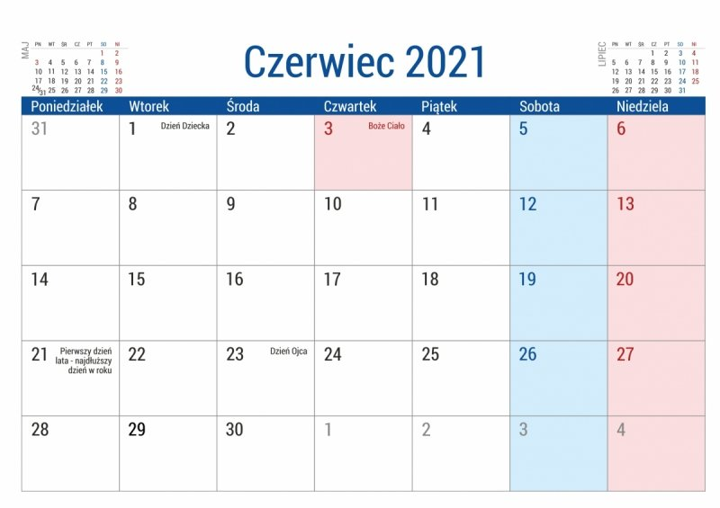 Kalendarz biurkowy PLANO dla uczniów i nauczycieli kartka z kalendarium