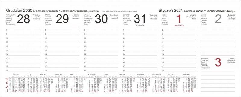 Kalendarz biurkowy z piórnikiem 2021 bordowy