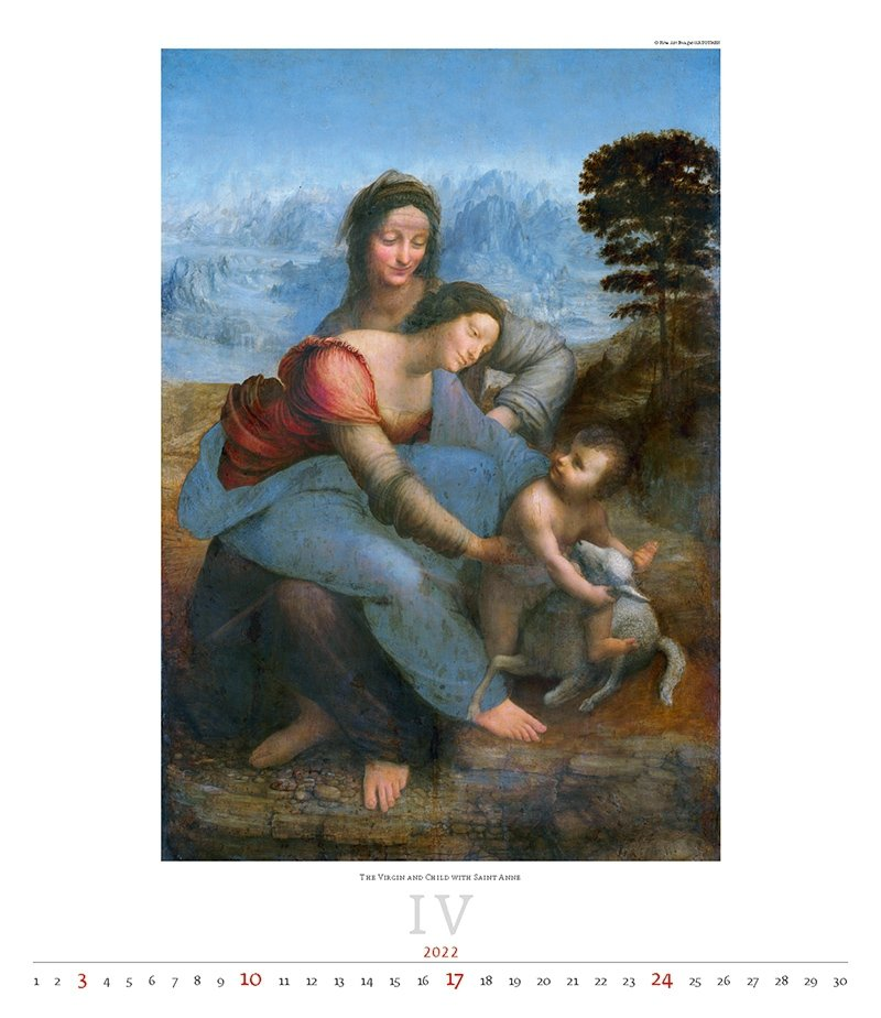 Kalendarz ścienny wieloplanszowy Leonardo da Vinci 2022 - exclusive edition  - kwiecień 2022