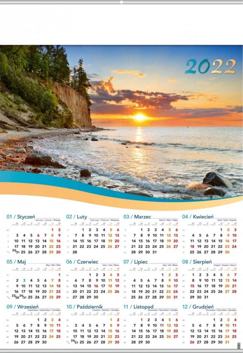 Kalendarz plakatowy B1/03 BAŁTYK 2022