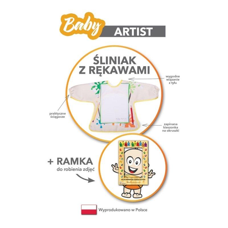 Baby Artist - Śliniak z rękawami