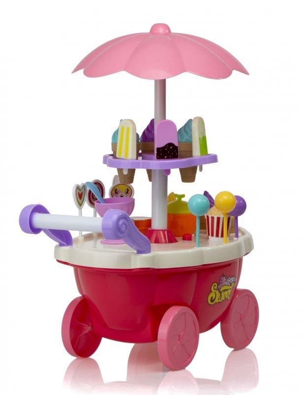 Wózek lodziarnia sklep ze słodyczami dźwięki LED