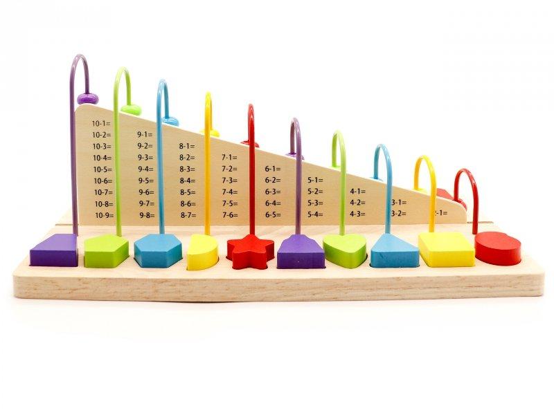 Zabawka edukacyjna liczydło,klocki cyfry ECOTOYS
