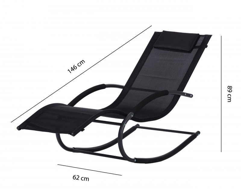 Leżak ogrodowy leżanka fotel bujany