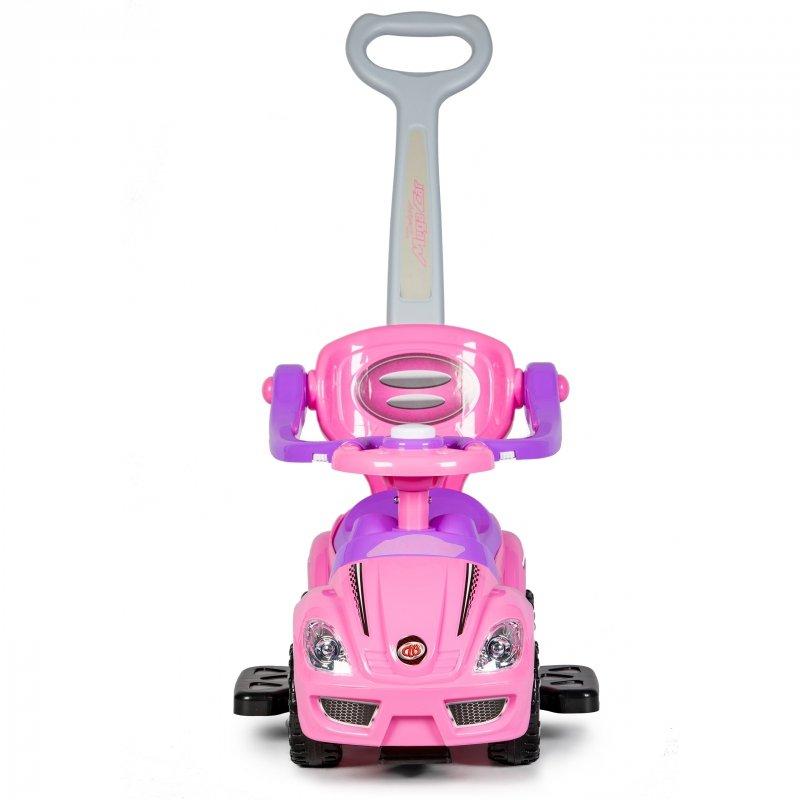 Jeździk pchacz deluxe 3w1 Różowy