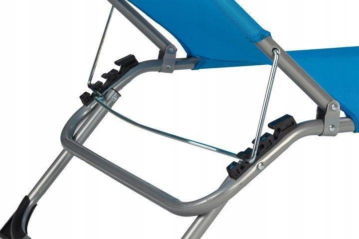 Leżak fotel ogrodowy składany plażowy z daszkiem