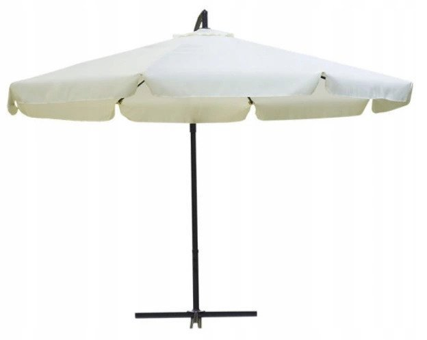 Duży parasol ogrodowy składany z falbanką 350cm