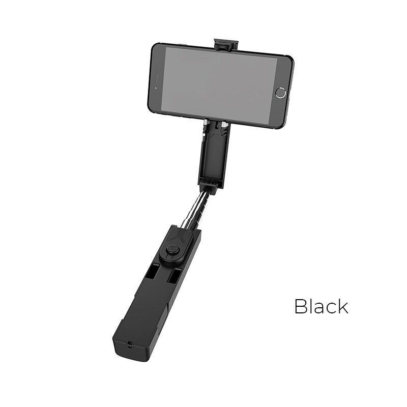 Borofone - selfie stick 76 cm z pilotem bezprzewodowym, czarny