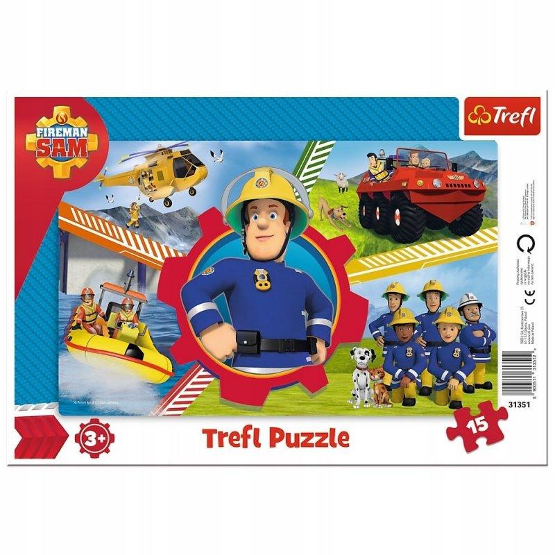 Puzzle 15 el ramkowe Strażak Sam