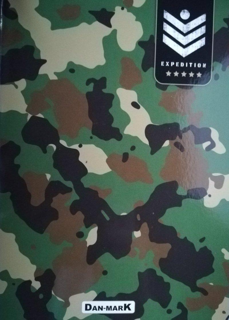 Zeszyt A5 96 kratka oprawa miękka military