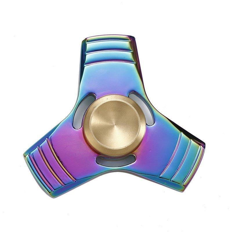 Fidget Spinner Metalowy Tęczowy wzór 8 + box