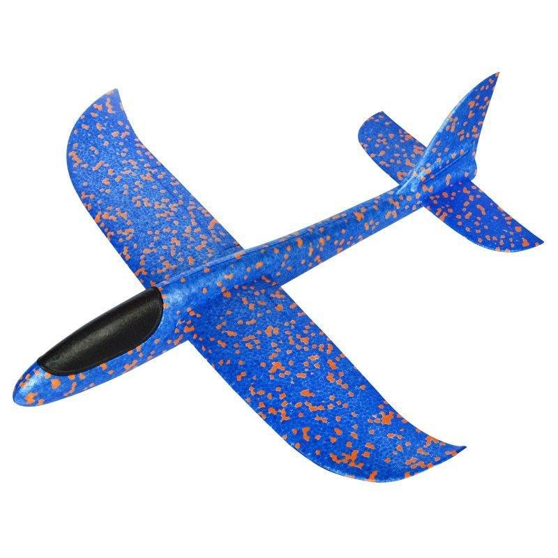 Szybowiec Samolot styropianowy niebieski 34x33cm