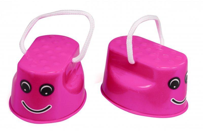 Szczudła-dla-dzieci-chodaczki-sport-równowaga-różowe