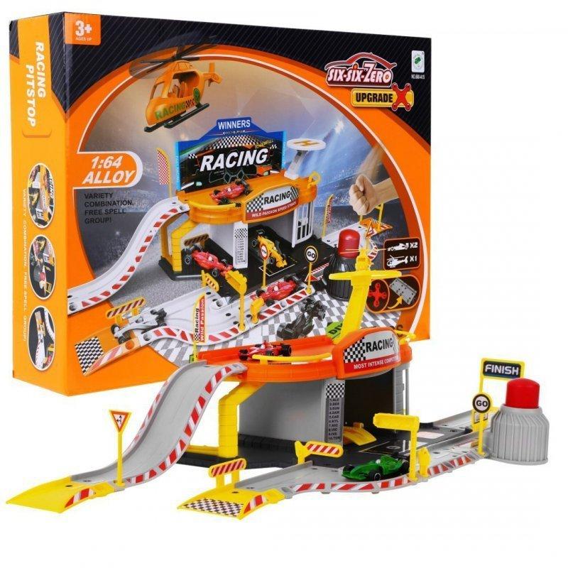 Tor-wyścigowy-+-parking-garaż-2-pojazdy-helikopter