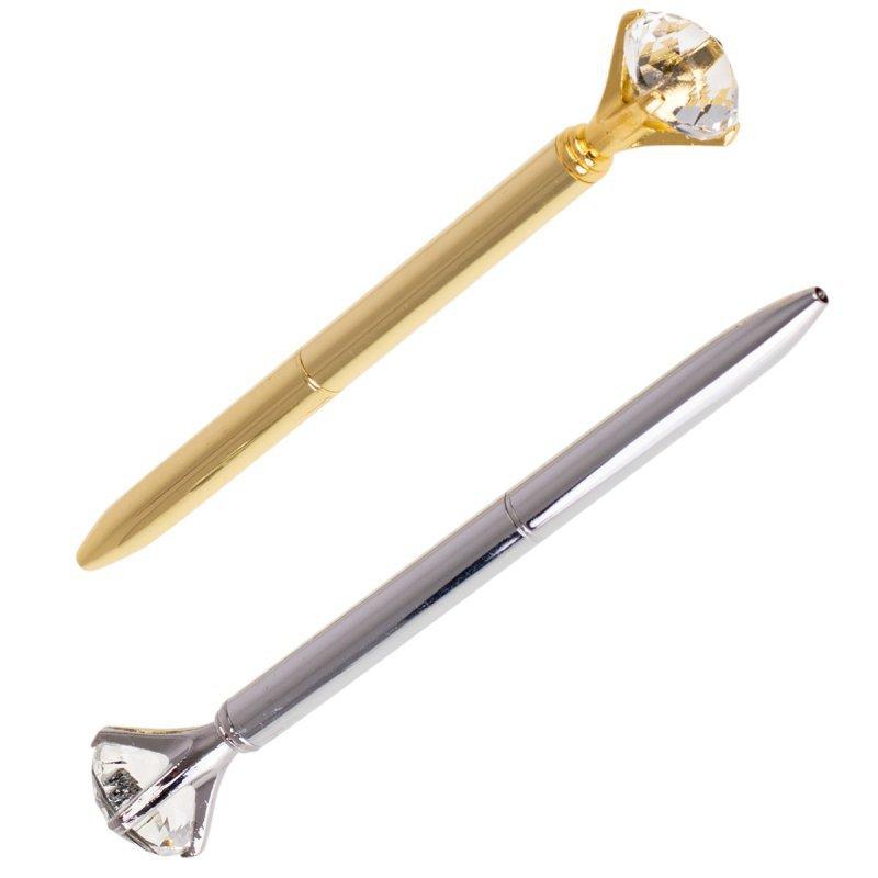Długopis metalowy z diamentem złoty