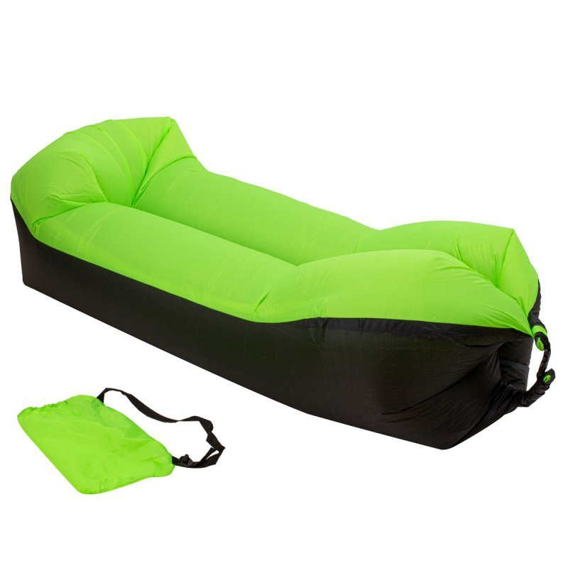 Lazy BAG SOFA łóżko dmuchane leżak 3 gen zielona 200x70