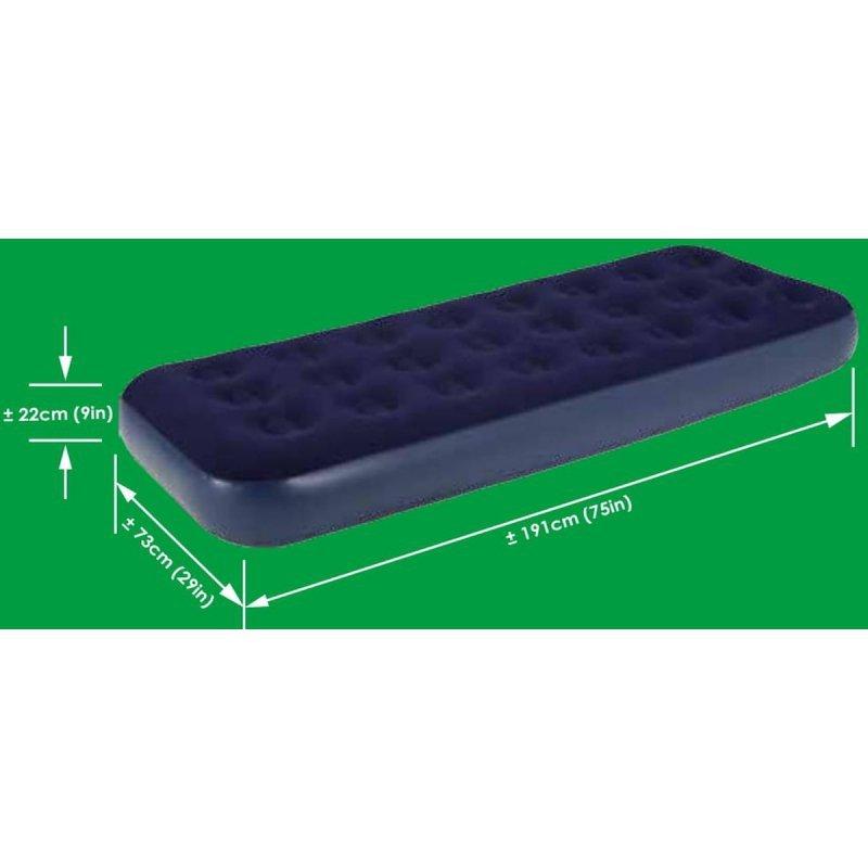 Materac flokowany 1-os 191x73x22cm